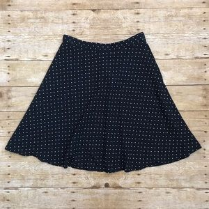 H&M Blue Polka Dot Circle Skirt Size 6